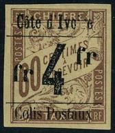 Neuf Avec Charnière N° 11, 4f Sur 60c Brun Sur Chamois, Surcharge Type II TB Signé A Brun - Stamps