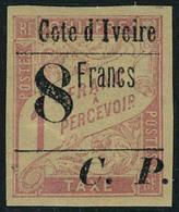 Neuf Avec Charnière N° 22, 8f Sur 1f Rose Sur Paille T.B. Signé Calves - Stamps