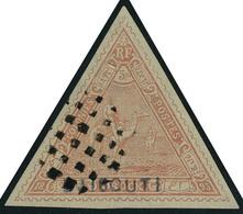 Oblitéré N° 5, 5f Rouge, Obl Légère Superbe Signé Brun - Stamps