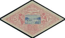 Neuf Avec Charnière N° 20, 25f Rose Et Bleu T.B. Signé Roumet - Stamps