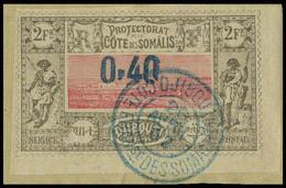 Fragment N° 25, 0.40 Sur 2f, Obl Centrale Sur Frgt, T.B. - Stamps
