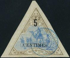Oblitéré N° 35, 5c Sur 25f Bistre Et Bleu TB - Stamps