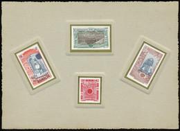 Epreuve Collective De L'émission De 1915-1916, Comprenant 1 Timbre Des 3 Types, Bicolores + 1 Timbre-taxe Rouge Noir, De - Stamps