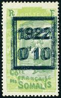 Neuf Avec Charnière N° 101b, 0f10 S/5c Vert-jaune, Double Surcharge, TB - Stamps