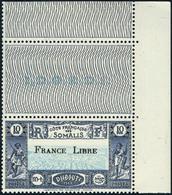 Neuf Sans Charnière N° 231, 10f Surchargé France Libre, Cdf, TB - Stamps