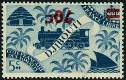 Neuf Sans Charnière N° 256a, 70c Sur 5c Bleu Gris, Surcharge Renversée, T.B. Maury. - Stamps