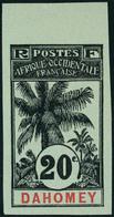 Neuf Sans Gomme N° 23a, 20c Palmiers Non-dentelé, Bdf, TB - Stamps