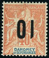Neuf Avec Charnière N° 39a. 10 Sur 40c, Surcharge Renversée, T.B. Signé A Brun. - Stamps