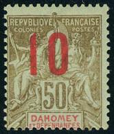 Neuf Avec Charnière N° 41, 10 S/50c Légende Rouge, TB, Signé Calves - Stamps