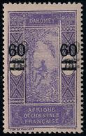 Neuf Sans Charnière N° 66a , 60 Sur 75c Violet Sur Rose, Double Surcharge T.B. Signé JF Brun - Stamps