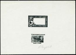 Type Temple De 1914. Epreuve D'artiste En Noir, En 2 Parties : Cadre + Fond. Sans La Valeur Faciale. T.B. - Stamps