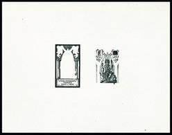 Type Brahma De 1929, épreuve D'artiste En Noir Décomposée : Centre + Cadre, Valeur Faciale Obturée. T.B. - Stamps