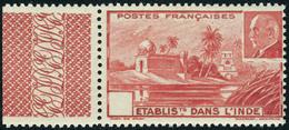Neuf Sans Charnière N° 126a, Pétain Rouge Sans La Valeur, TB - Stamps