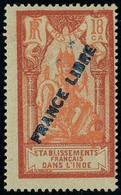 Neuf Avec Charnière N° 139, 18ca Rouge Et Rouge Clair France Libre, Cl, TB  Certificat Roumet - Stamps