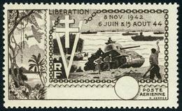 Neuf Sans Charnière N° 22b, 10ème Anniversiare De La Libération, Sépia Unicolore Sans Légende, Ni Faciale, TB - Maury - Stamps