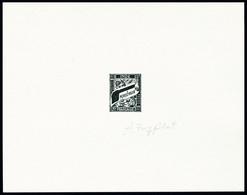 Type Duval, épreuve D'artiste En Noir, Valeur Faciale Et Nom De La Monnaie (cache) Obturées, Signée Par Le Graveur. T.B. - Stamps