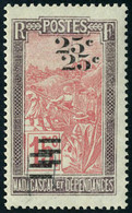 Neuf Sans Charnière N° 144a, 25c S/15c, Double Surcharge, TB - Stamps