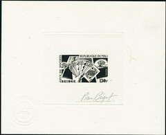 N°309/310. 100f Dominos Et 130f Bridge. épreuves De Luxe Et épreuves D'artiste En Noir. T.B. - Stamps