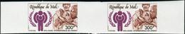 Neuf Sans Charnière N° 323/25. La Série Complète Année Internationale De L'enfant,  Paires Horizontales Non Dentelées. T - Stamps