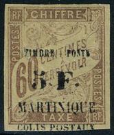 Neuf Avec Charnière N° 60, 5f Sur 60c Brun T.B. Signé Brun - Unclassified