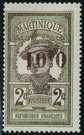 Neuf Avec Charnière N° 105c, 0.01 Sur 2c Surcharge Renversée, Cl, TB Signé G Reine - Unclassified