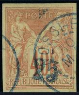 Oblitéré N° 1, 25 Sur 40c Rouge Orange T.B. Signé - Stamps