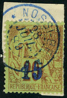 Fragment N° 4, 15 S/20c Brique S/ Vert, Oblitéré S/fragment, TB, Signé Calves - Stamps
