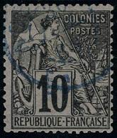 Oblitéré N° 8, 5c Sur 1c Noir Sur Lilas T.B. - Stamps