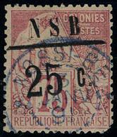 Oblitéré N° 11, 25c Sur 75c Rose Surcharge I, Lég. Défectueux 1 Coin Arrondi, Signé Calves - Stamps