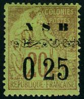 Neuf Avec Charnière N° 13, 0,25 S/20c Brique S/vert, TB, Signé Senf - Stamps