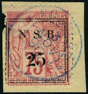 Fragment N° 17, 25 S/75c Rose, Oblitéré S/fragment, Pd, Aspect TB - Stamps