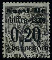 Oblitéré N° 1, 0.20 Sur 1c Surcharge I TB Signé A Brun - Stamps