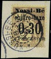 Oblitéré N° 2, 30c Sur 2c Surcharge I, Càd Complet Sur Petit Fragment TB - Stamps