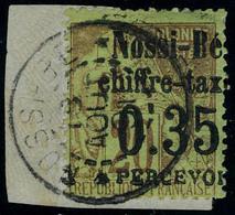 Oblitéré N° 5, 0.35 Sur 20c Surcharge II Sur Petit Fragment TB Signé Calves - Stamps