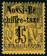 Neuf Avec Charnière N° 6, 1f S/35c Violet-noir S/jaune, TB - Stamps
