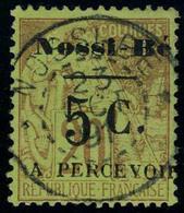 Oblitéré N° 7, 5c Sur 20c Surcharge III TB Signé A Brun - Stamps