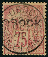 Oblitéré N° 19, 75c Rose, Surcharge B, TB, Signé JF Brun - Francobolli