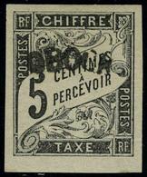 Neuf Sans Charnière N° 1a, 5c Noir Surcharge A, Réimpression TB - Francobolli