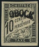 Neuf Avec Charnière N° 2, 10c Noir Surcharge A TB Signé - Francobolli
