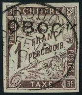 Oblitéré N° 16, 1f Marron TB Signé Calves - Francobolli