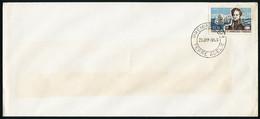 Oblitéré N° 25, 30f Dumont D'Urville, Càd 1er Jour Terre D'Adélie 20 Janv 1968, Sur Enveloppe Blanche, T.B. - Stamps