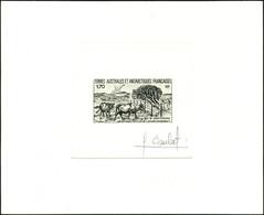 N° 149, Bétail Et Oiseaux, Epreuve D'Artiste En Noir Signée Combet, TB - Stamps