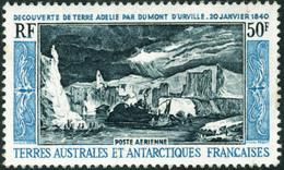 Neuf Sans Charnière N° 8. 50f Découverte De La Terre Adélie, Gomme Légèrement Marbrée Sinon T.B. - Stamps