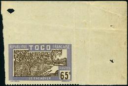 Neuf Sans Charnière N° 138a, 65c Le Cacaoyer Non-dentelé Sur 3 Cotés, Cdf, TB - Stamps