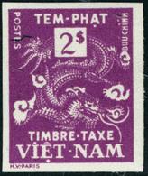 Neuf Sans Charnière Type Dragon. 2Pi Lilas-rose. Unicolore. Non Dentelé. T.B. - Stamps