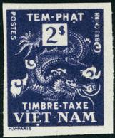 Neuf Sans Charnière Type Dragon. 2Pi Violet. Dans La Couleur Du N°8. Unicolore. Non Dentelé. T.B. - Stamps