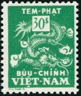 Neuf Sans Charnière N°12a. 30Pi  Vert, Jaune Omis. T.B. - Stamps