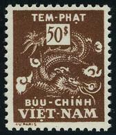 Neuf Sans Charnière N° 13a, 50pi Brun, Jaune Omis T.B. - Stamps