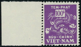 Neuf Sans Charnière N° 14a, 100 Pi Violet, Jaune Omis, Bdf, T.B. - Stamps