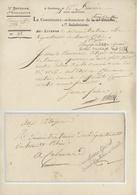 Commissaire Général Armée Du Rhin-et Moselle Strasbourg An 4 - 3.12.1795 - 1792-1815: Départements Conquis